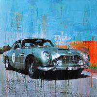classic car kunst aston mertin db5 junge kuenstler