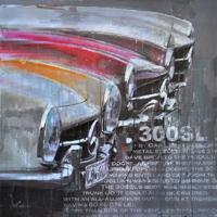 classic car kunst mercedes benz 300SL junge kuenstler