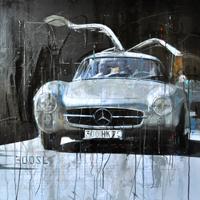 Haub Michael Mercedes Benz kunst bilder 300SL silber junge Kuenstler