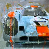 porsche kunst bilder Haub Michael Porsche 917 Le mans classic car junge Kuenstler