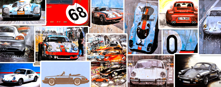 versenden und sammelnExklusive Porsche Postkarten