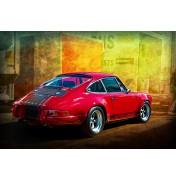 Red Porsche 911 Rear