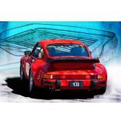 Red Porsche 930 Turbo