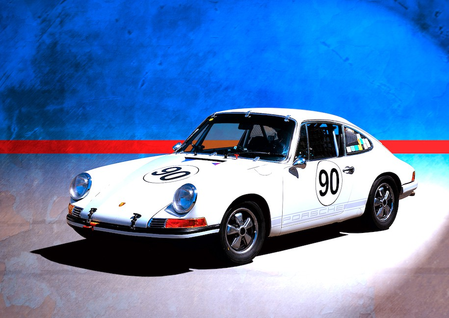 1969 Porsche 911T White No.90