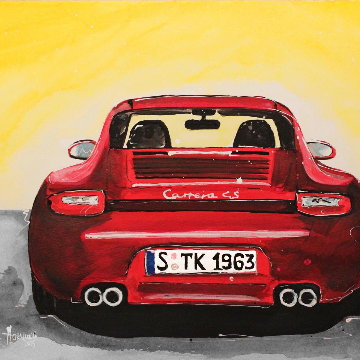 Red Porsche Carrera 4S