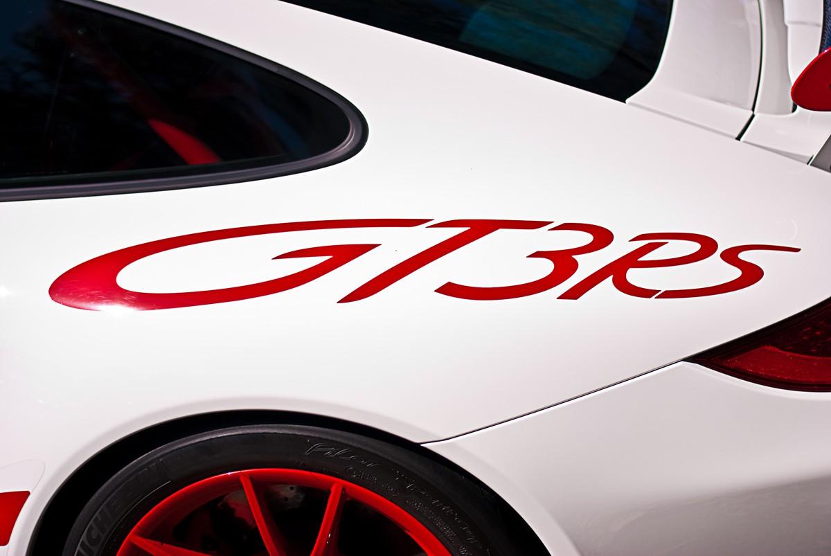 White Porsche 911 GT3 RS Rear
