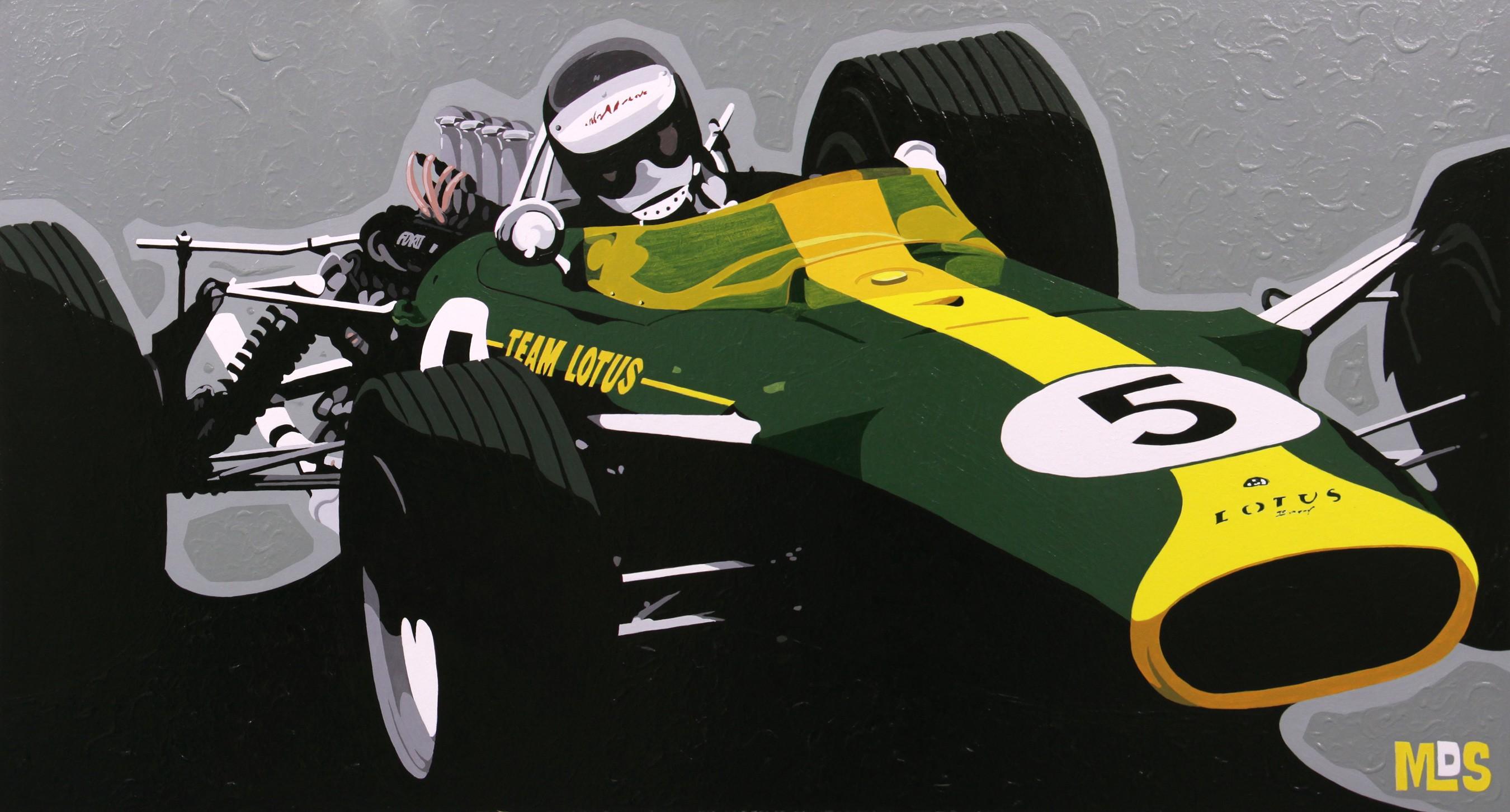 Jim Clark im Lotus 49 - 1967