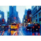 Rainer Augur: It rains! 5th Avenue New York. Komplettes Motiv.