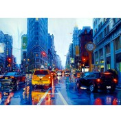 Rainer Augur: It rains! 5th Avenue New York. Komplettes Motiv.