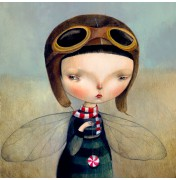 "Dilka Bear: ""Fly"". Komplettes Motiv."