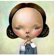 """Dilka Bear: """"My little Secret"""". Komplettes Motiv."""