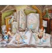 Agnes Boulloche Original Ölbild Genies de la peinture, 2012