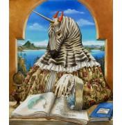 Agnes Boulloche: Original Ölbild Peau Zebre, 2012