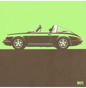 Porsche 911 Light Green 1967 - Targa 1967 C09 9/25