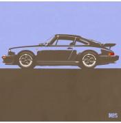 Porsche 911 Light Blue 1974 Turbo - C19 19/25