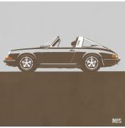 Porsche 911 Light Grey 1967 - Targa 1967 C21 21/25