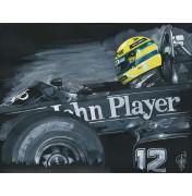 Ayrton Senna im Lotus Renault 1985