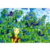 "Jane Lebedeva: ""Unter the blue tree"", komplettes Motiv"