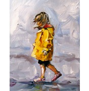 "Irene Mischak: ""Im Regen"", Detail"