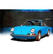 Blue Porsche 911 2,7L