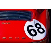 Red 1969 Porsche 911E No.68