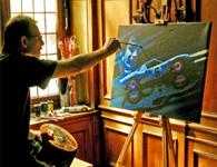 Prahl Michael an Leinwand moderne kunst junge Künstler